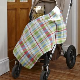 Safari Friends Buggy Blanket Checked