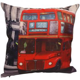 Red Bus Filled Cushion