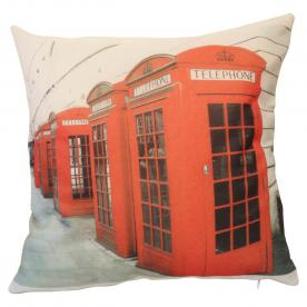 Telephone Boxes Filled Cushion