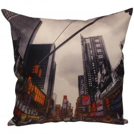 Time Square Filled Cushion