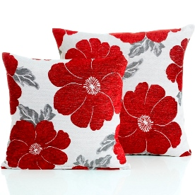 Poppy Filled Cushion