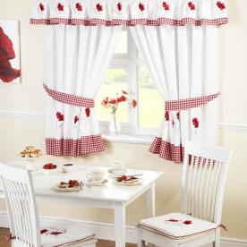 Poppies Kitchen Curtains