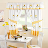 Sunflowers Kitchen Curtains