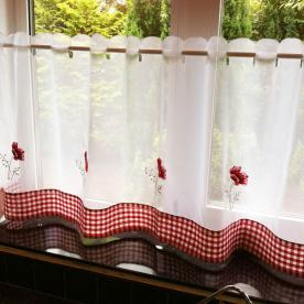 Poppies Cafe Curtain Panel