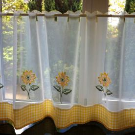Sunflowers Cafe Curtain Panel