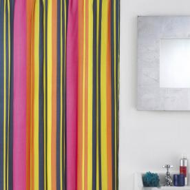 Calypso Stripe Shower Curtain with Hooks