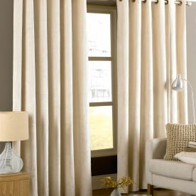 Emperor Ready Made Faux Suede Lined Eyelet Curtains