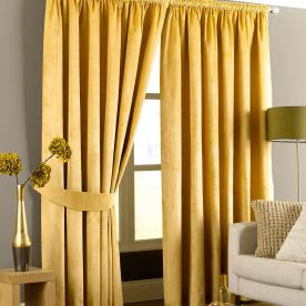 Emperor Ready Made Faux Suede Lined Curtains