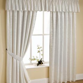 Orlando Ready Made Lined Voile Curtain