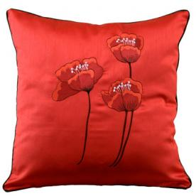 Poppies Filled Cushion