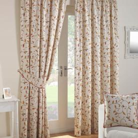 Leaf Trail Ready Made Lined Curtains