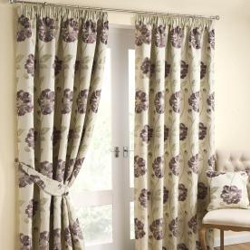 Watercolour Ready Made Lined Curtains