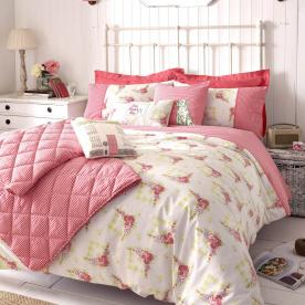 Kirstie Allsopp Gingham Roses Luxury Bedding