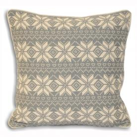 Snowflake Filled Square Cushion