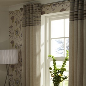 Damsay Ready Made Lined Eyelet Curtains