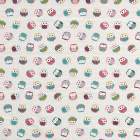 Owls Curtain Fabric