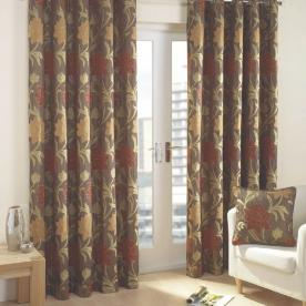 Verdi Ready Made Lined Eyelet Curtains
