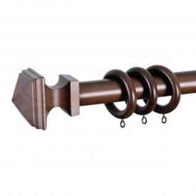 Integra 28mm Wooden Square Curtain Pole