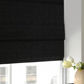 Wave Chenille Roman Blind