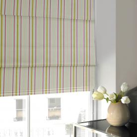 Candy Stripe Roman Blind