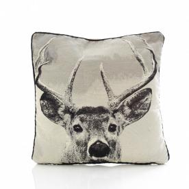 Stag Tapestry Filled Cushion