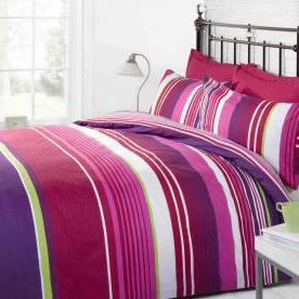 Cambridge Stripe Printed Duvet Set