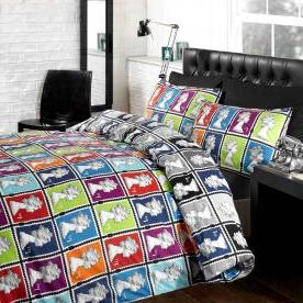 Postage Stamp Printed Duvet Set