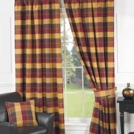 Imperial Check Ready Made Lined Curtains