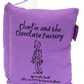 Roald Dahl's Charlie and The Chocolate Factory Book Cushion Filled