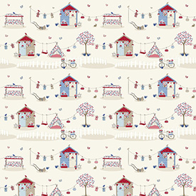 Summer Holidays Curtain Fabric