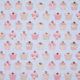 Cupcakes Curtain Fabric