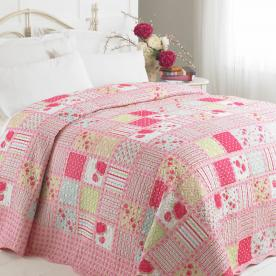 Anna Luxury Patchwork Quilted Bedspread - Single