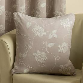 Floral Scroll Filled Square Cushion