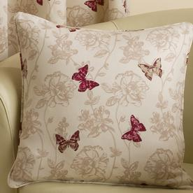 Butterfly Filled Square Cushion