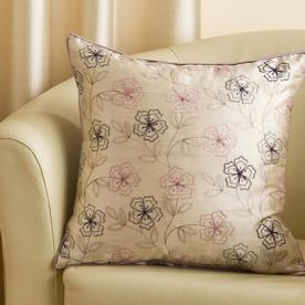 Floral Filled Square Cushion