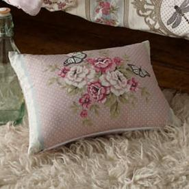 Pretty As A Picture Floral Boudoir Cushion Filled