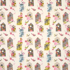 Birdhouse Curtain Fabric
