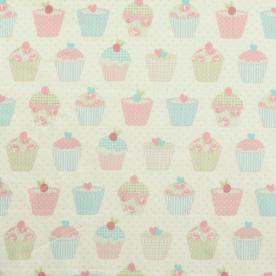 Cup Cakes PVC Fabric