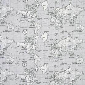 Maps curtain fabric grey great range of affordable curtain greyfrom 999 sciox Choice Image