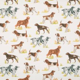 Hounds Curtain Fabric