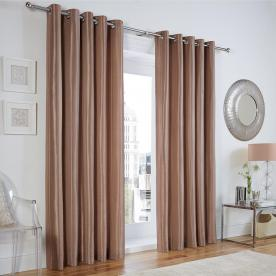 Linwood Stripe Ready Made Lined Eyelet Curtains
