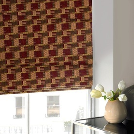 Patchwork Roman Blind