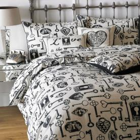 Keys Printed Bedding Set