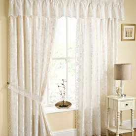 Fiji Readymade Lined Voile Curtains