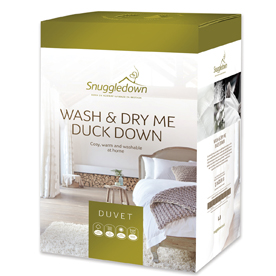 Snuggledown Wash and Dry Me Duck Down All Seasons 13.5 Tog Duvet