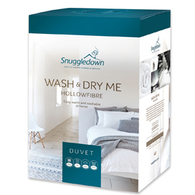 Snuggledown Wash and Dry Me Hollowfibre Thermofill 13.5 Tog Duvet