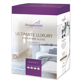 Snuggledown Ultimate Luxury Microfibre and Hollowfibre Blend 13.5 Tog Duvet