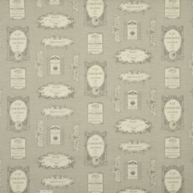 Vintage Labels Curtain Fabric