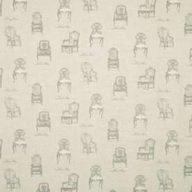 Vintage Chairs Curtain Fabric