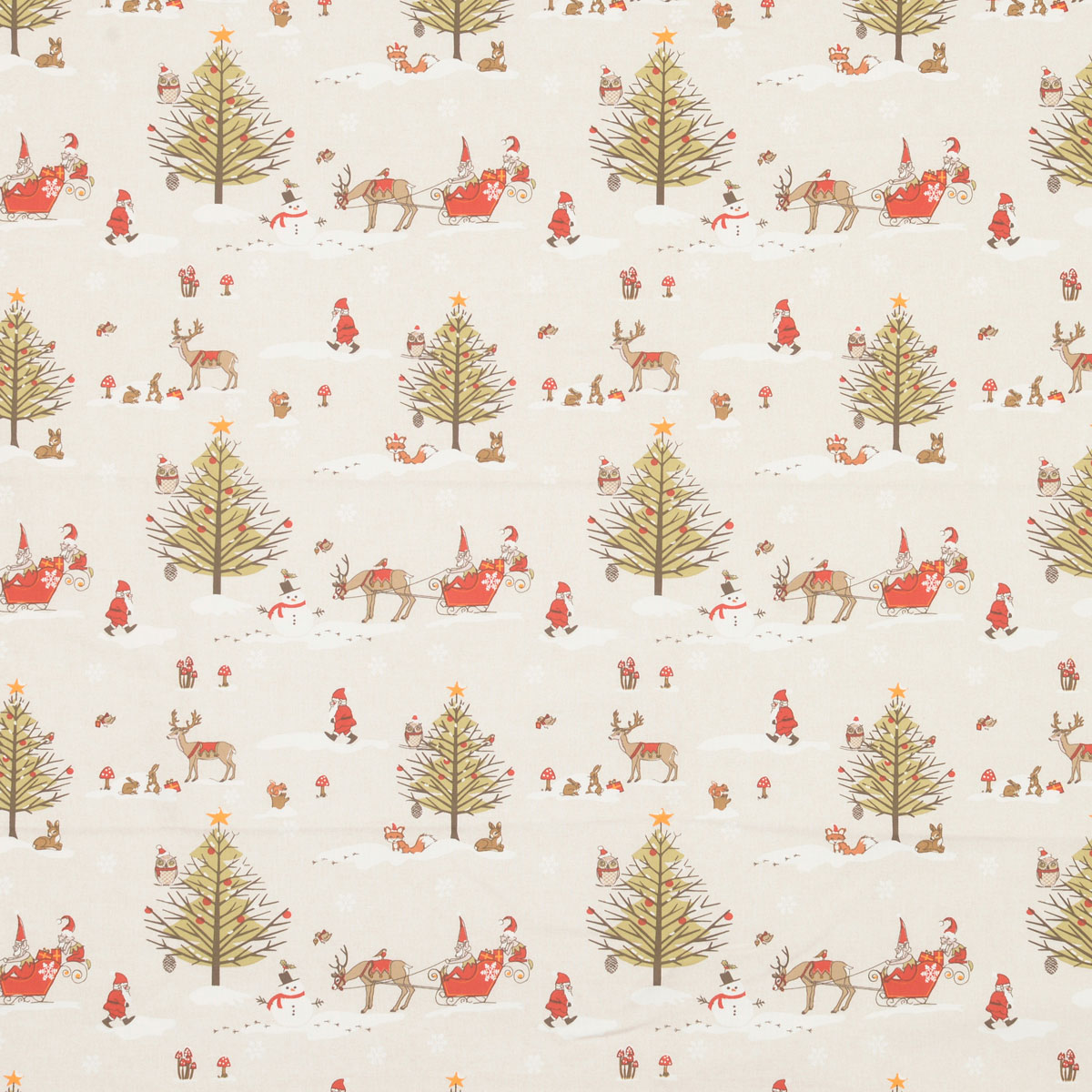 Christmas Woodland Curtain Fabric
